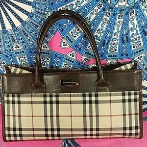 Authentic Burberry Nova Check Satchel Bag